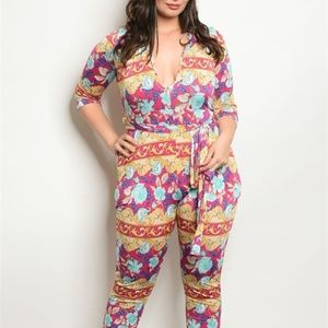 Pants - Multicolored Jumpsuit
